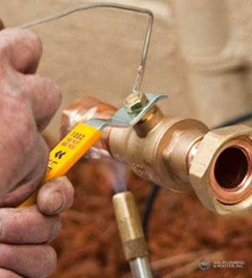 For copper and PEX piping repairs, SAL Plumbing & Rooters are the best in your area.