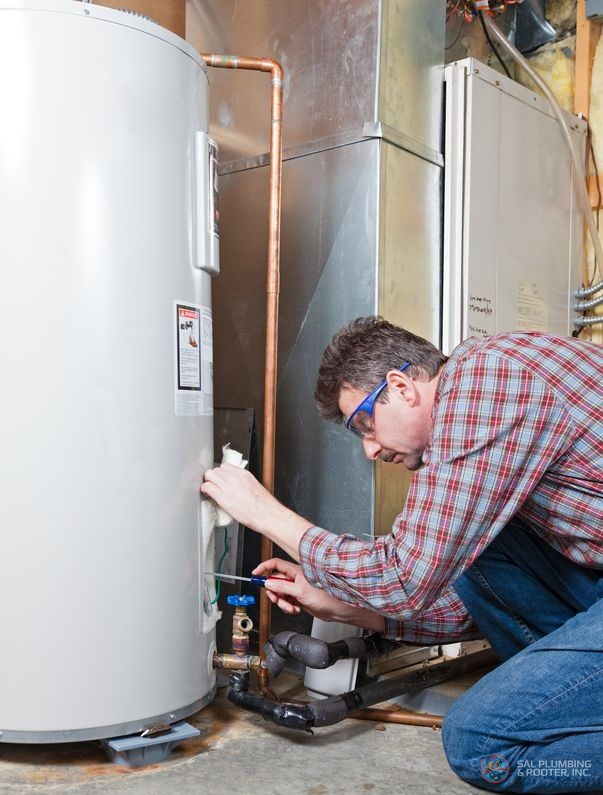 SAL Plumbing and Rooter Inc. are qualified technicians to perform electric water heater installation and replacements.